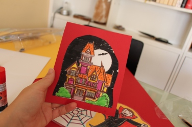 Don't be perfectionist about colouring/cutting out flashcards